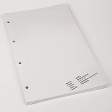 Legal Size Blank Sheets for 6007 Binder - Z1773