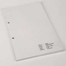 Legal Size Blank Sheets for 6010 Binder - Z1777